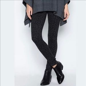 Joie Keena Charcoal Caviar Leggings Size Large